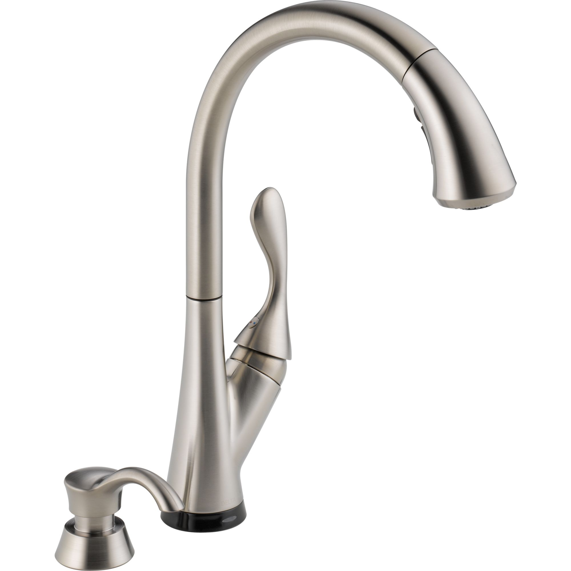 Delta 19922T-SSSD-DST Ashton Single-handle Kitchen Faucet with Pull-down Spray, Soap Dispenser, and Touch2O Technology Stainless Steel