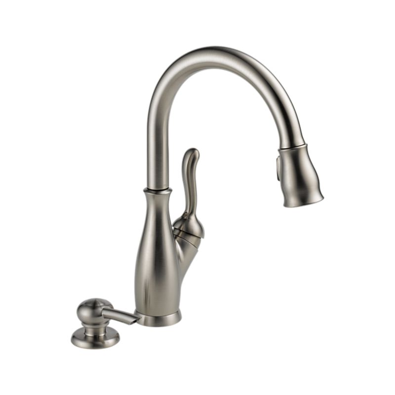Delta 19978-SSSD-DST Leland Single-handle Kitchen Faucet with Pull-down Faucet and Soap Dispenser Stainless Steel